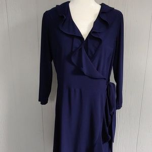 Tiana B Ruffled Wrap Dress NWOT